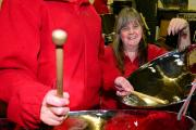 MUSICAL CAMARADERIE: Milnthorpe Steel Band's booking secretary Shelley Hackett