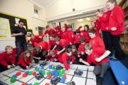 Pupils have fun building their own robots