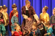 CENTRE STAGE: some of the young cast in Grange and District Amateur Operatic Society's production of The King and I