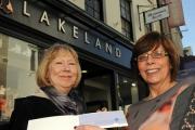 Pauline Whitaker who has won a £100 voucher as part of Lakeland coming out of administration. Pauline is pictured with acting manager Elaine Chapman.  (21364606)