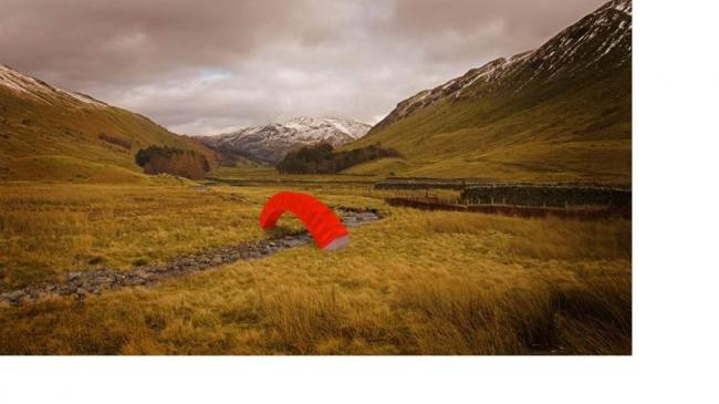 CONTRAST: how Steve Messam's temporary PaperBridge installation might look.