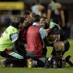 The Westmorland Gazette: Joe Marler, right, is out for the rest of the season due to a shoulder injury