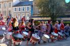 Batala in Market-Square. Picture by Mandy Blackwell.