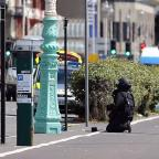 The Westmorland Gazette: A bomb disposal expert prepares to carry out a controlled explosion in Brighton after a suspect package was found before the annual Pride parade