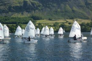 Youngsters enjoy the big winds in sailing contest