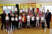 Burneside pupils receive awards after getting involved in activities outdoors