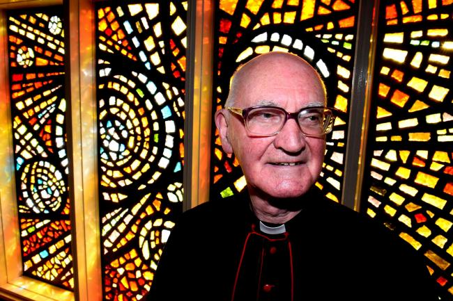 Monsignor Francis Slattery, who celebrated his diamond anniversary in the priesthood in 2014