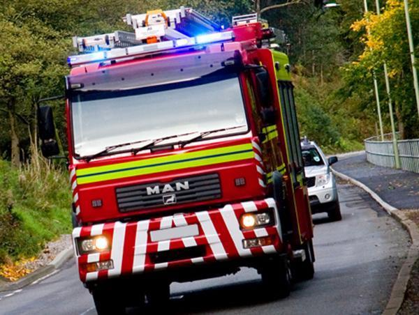 Fire crews called to blaze in flat in village
