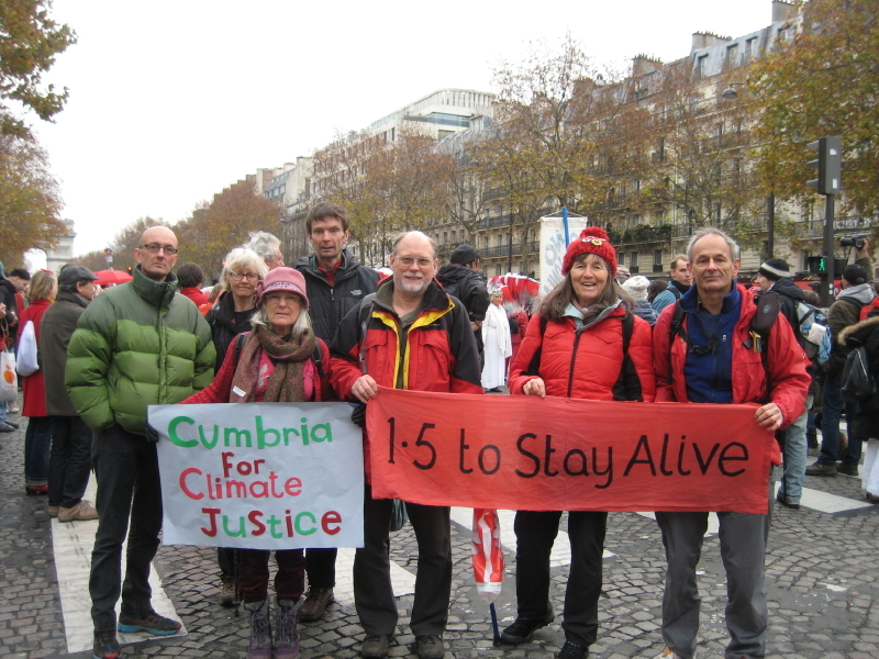 Kendal residents join climate change demonstration in Paris