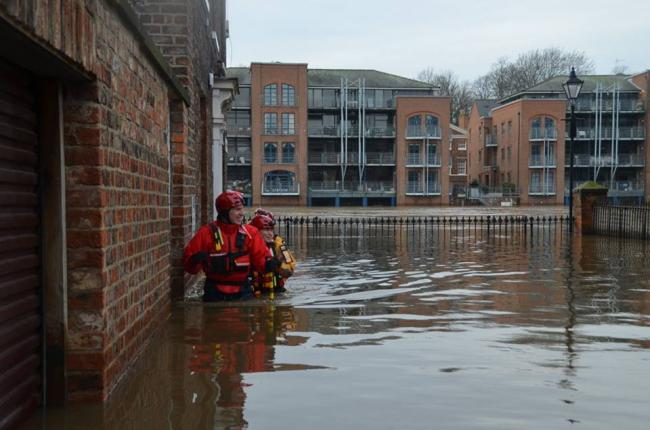 Langdale and Ambleside Mountain Rescue Team members find themselves waist-deep in flood water again - this time in the centre of York over Christmas,