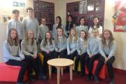 The 16 ambassadors at Queen Katherine School in Kendal