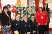 Staff and pupils from Wennington Hall School at British Heart Foundation shop in Blackpool