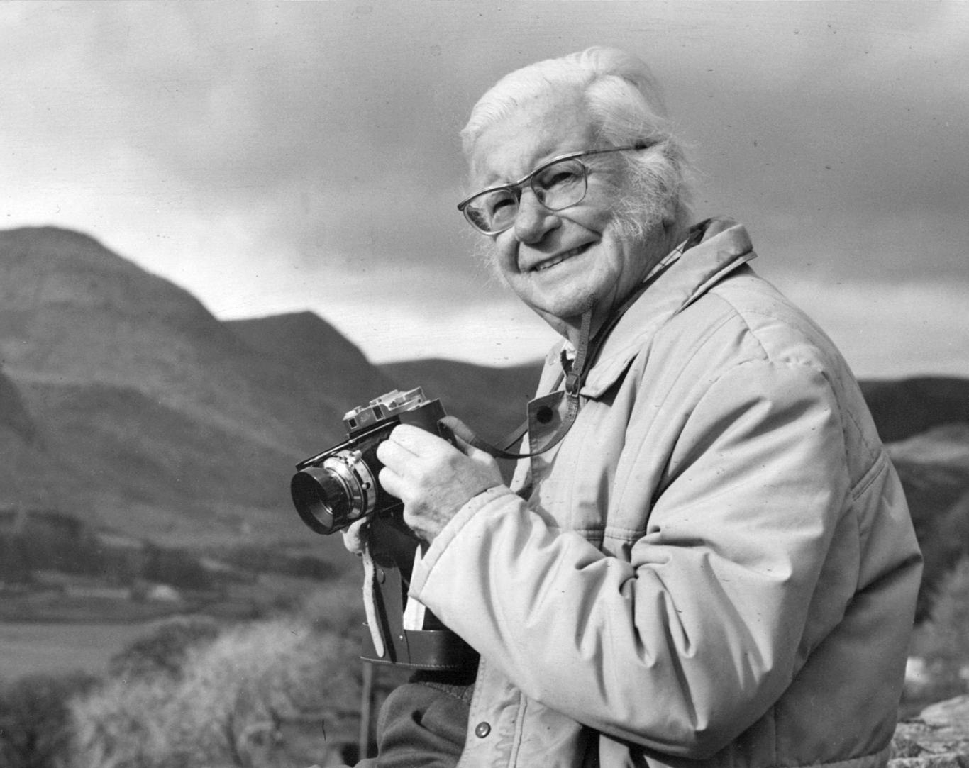 Wainwright portrait by his friend Kenneth Shepherd. (Westmorland Gazette Photographer) (53736701)