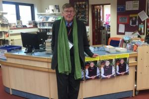 Playwright Alan Bennett visits Queen Katherine School at Kendal