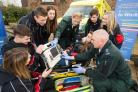 Newton Rigg College students getting an insight into emergency care training in advance of a new course which begins in September in association with the North West Ambulance Service