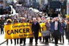 Radiotherapy campainers march through Kendal (55483910)