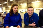 QKS student Hannah Wood (left) with BAE apprentice Lucas Telford