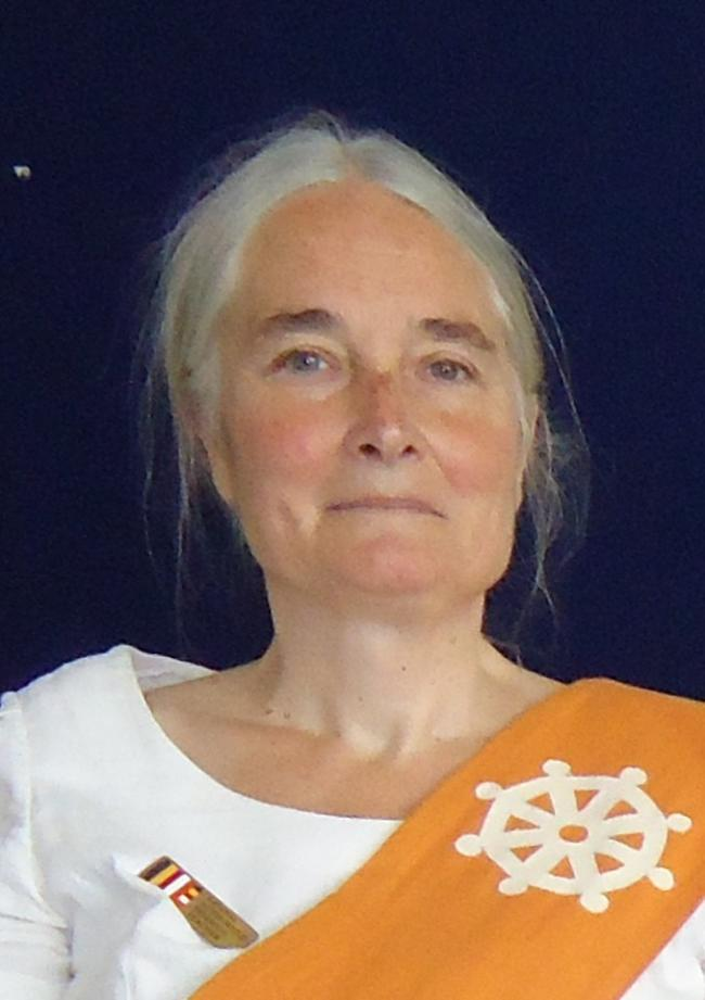 Jacquetta Gomes, secretary of the Buddhist Group of Kendal (Theravada).