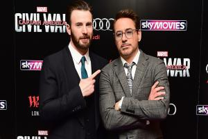 Robert Downey Jr and Chris Evans visit Avengers fan with cancer