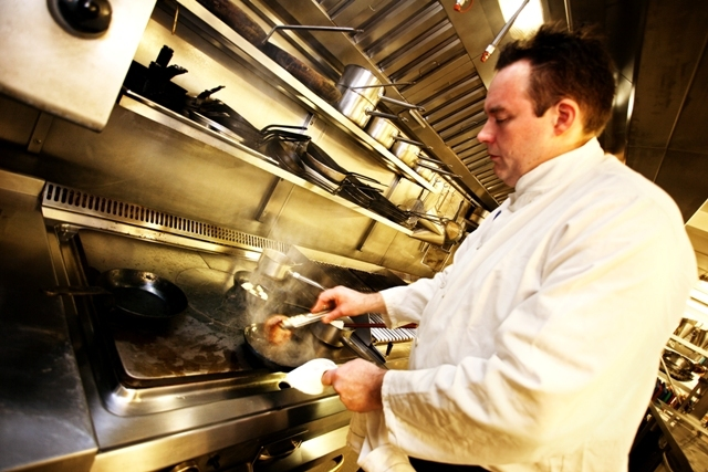 Justin Woods, head chef at The Castle Green Hotel, Kendal, and Greenhouse restaurant