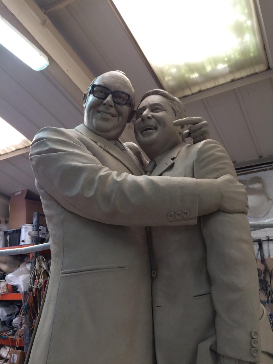 statue of eric morecambe and ernie wise by graham ibbeson to be