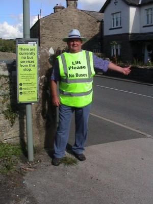 The Westmorland Gazette: Pensioner turns to hitch-hiking following cuts to bus services in his village