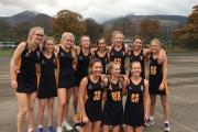 The Year 9 netball team at Sedbergh School