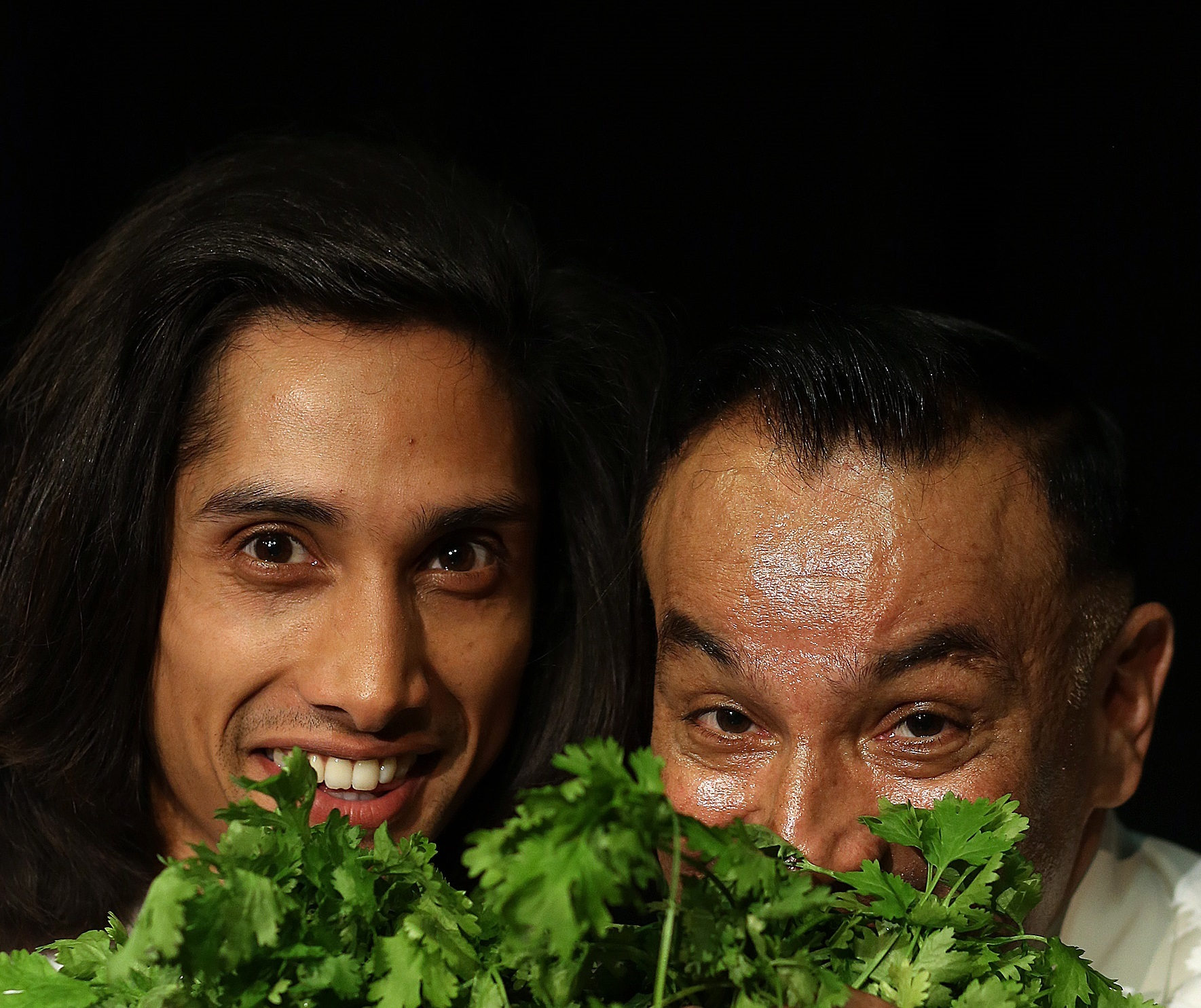 Kamal Kaan and Rohit Gokani who play father and son Abdul and Khalid in Nick Ahad's play The Chef Show, heading to Kendal's Brewery Arts Centre on Wednesday, February 21 (8pm). Pic Dave Charnley