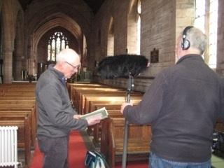 Filming in St George's Parish Church in Millom