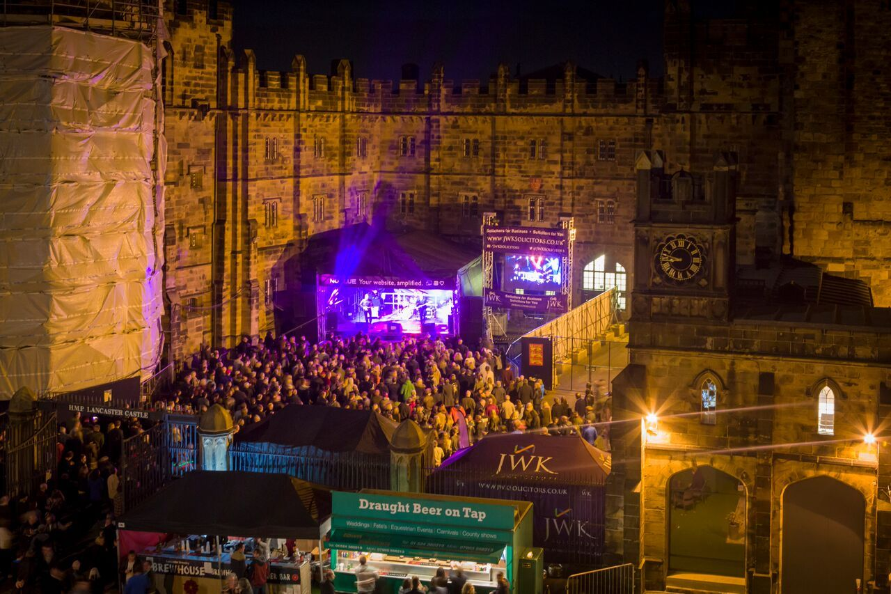 Lancaster Music Festival castle stage, photo by Nich Dagger photography.