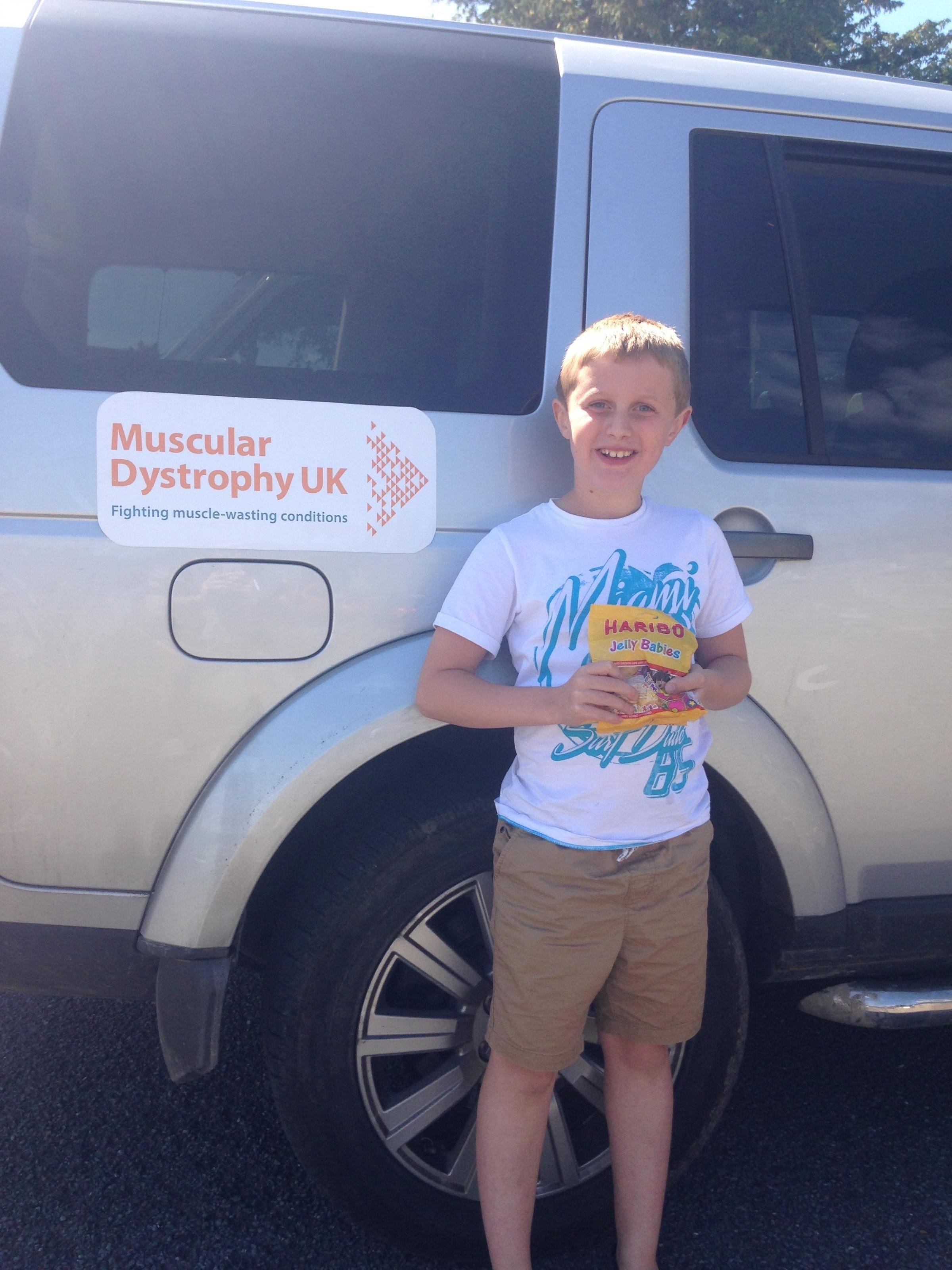 Endmoor schoolboy Will Taylor, who has Duchenne muscular dystrophy and will be joined by many friends at the mini triathlon on Sunday, July 15, 2018