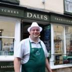 The Westmorland Gazette: Master butcher Mark Duckworth outside Dales Traditional Butchers at Kirkby Lonsdale