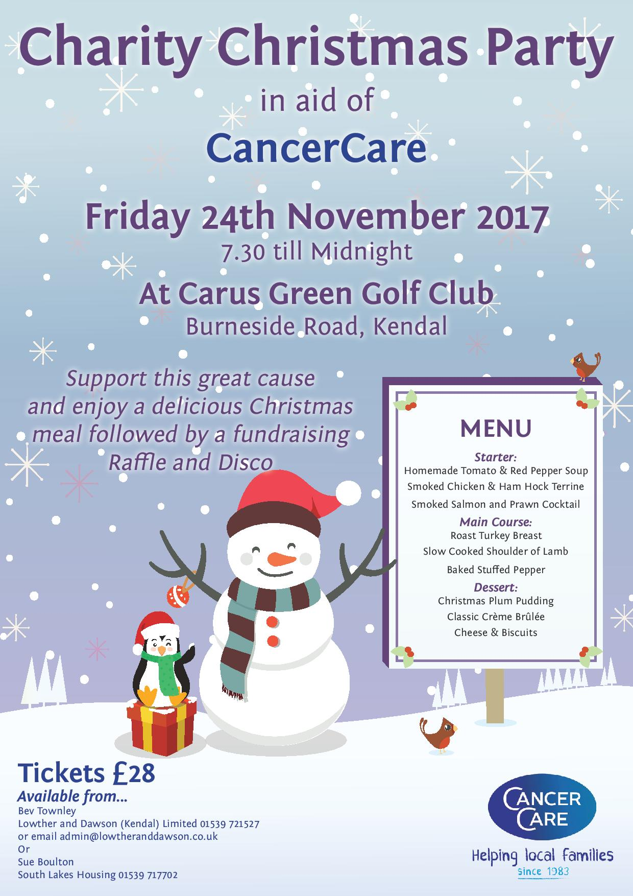 Charity Christmas Party in aid of CancerCare