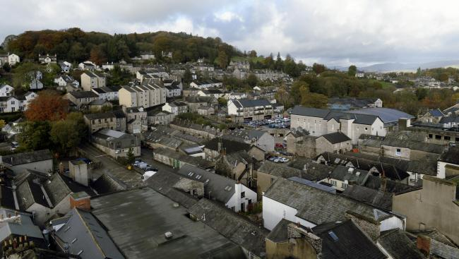 A view of Kendal's rooftops; the housing market across the North West is