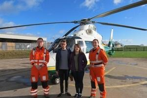 'I wouldn't be here without them': Ulverston cyclist meets life-saving medics