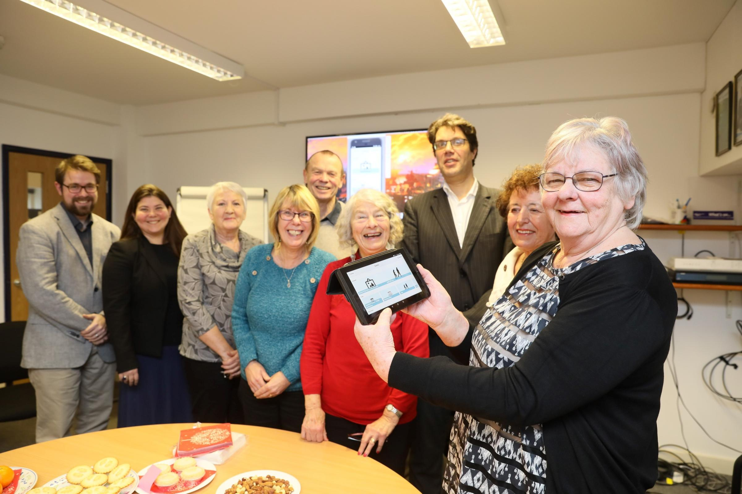 Loneliness app morning at AgeUK South Lakeland