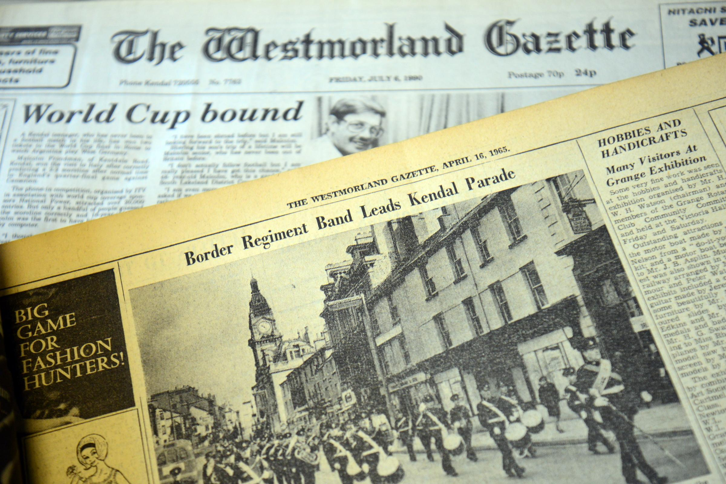 Stories from The Westmorland Gazette in years gone by