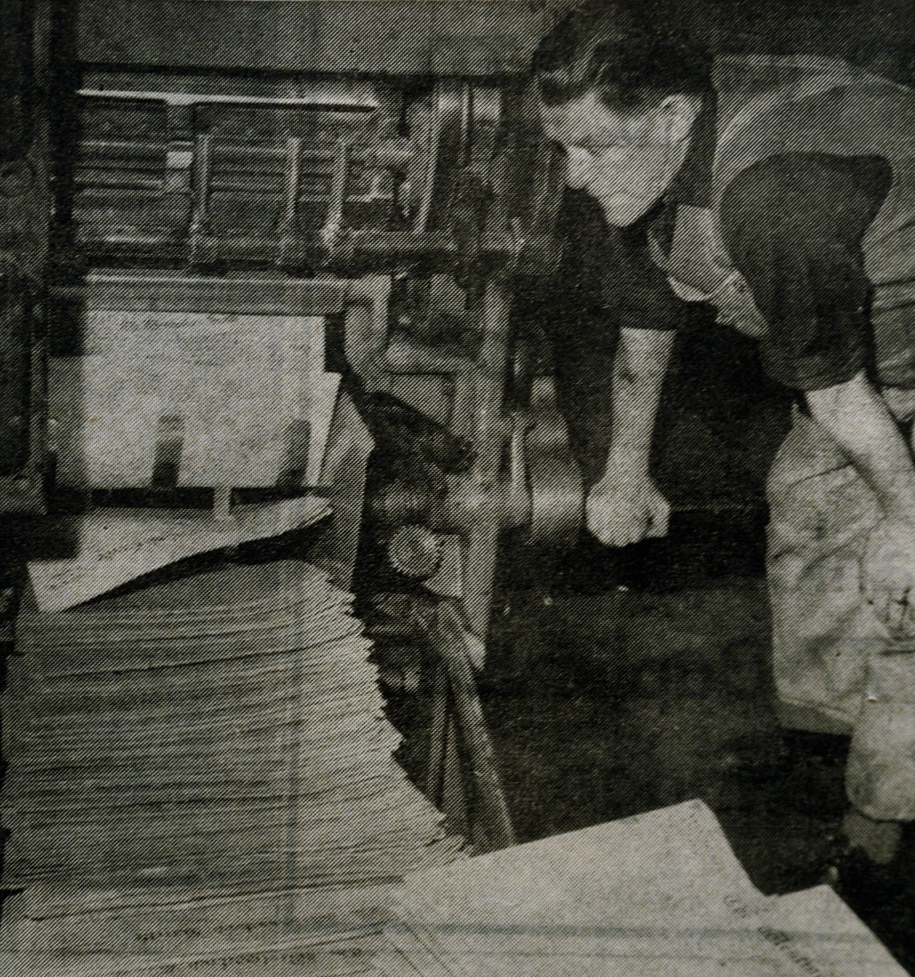 The start of The Westmorland Gazette print run one night in 1968