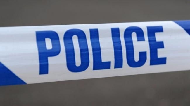 The A590 is partially blocked following a crash