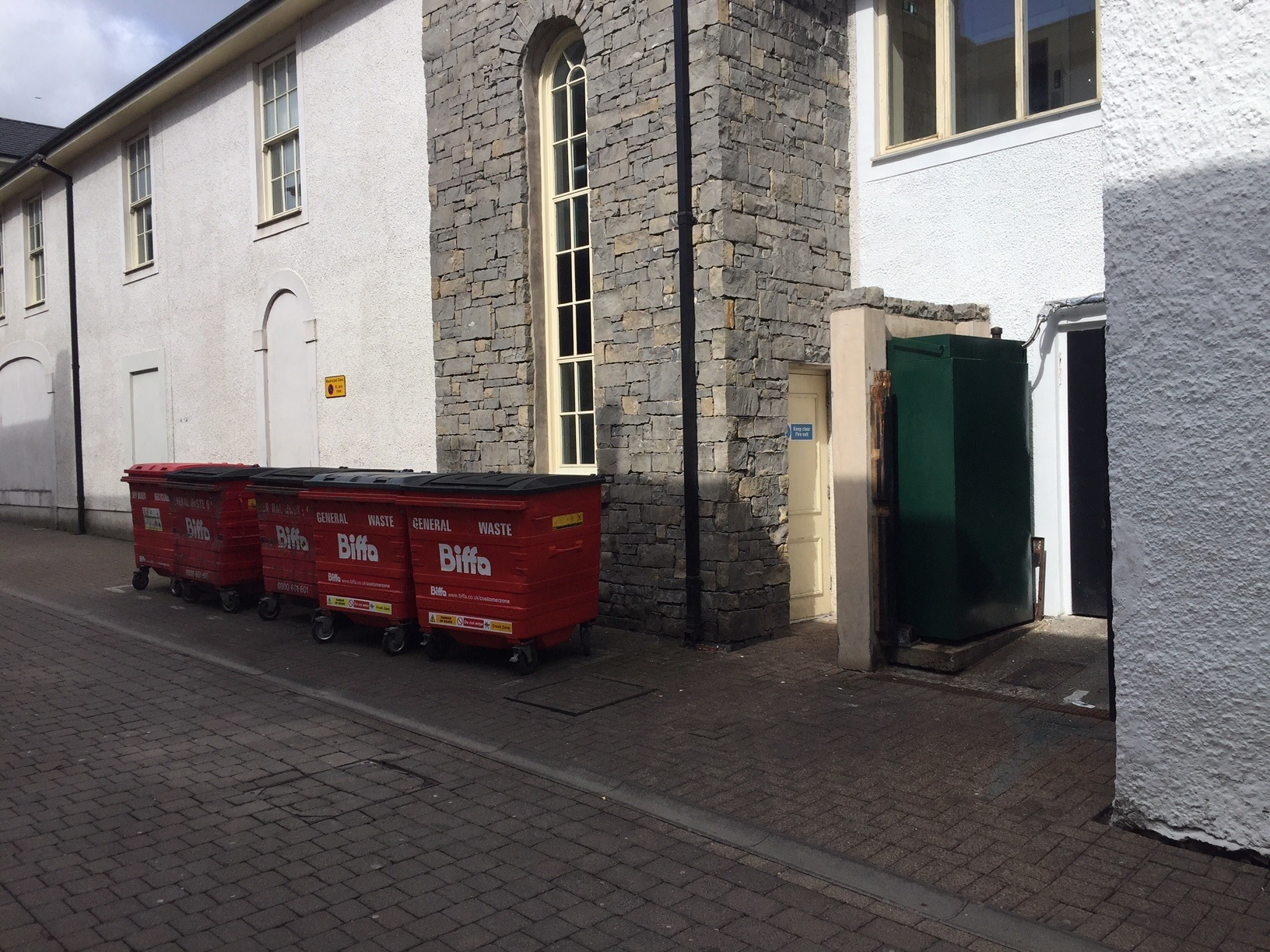 Bins outside Kendal's KFC