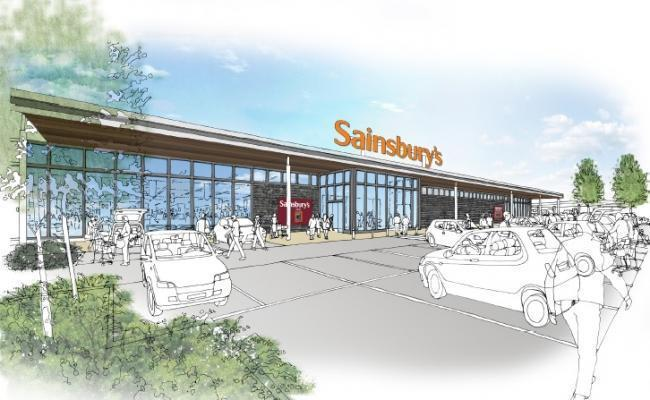 Artist's impression of new Sainsbury's store