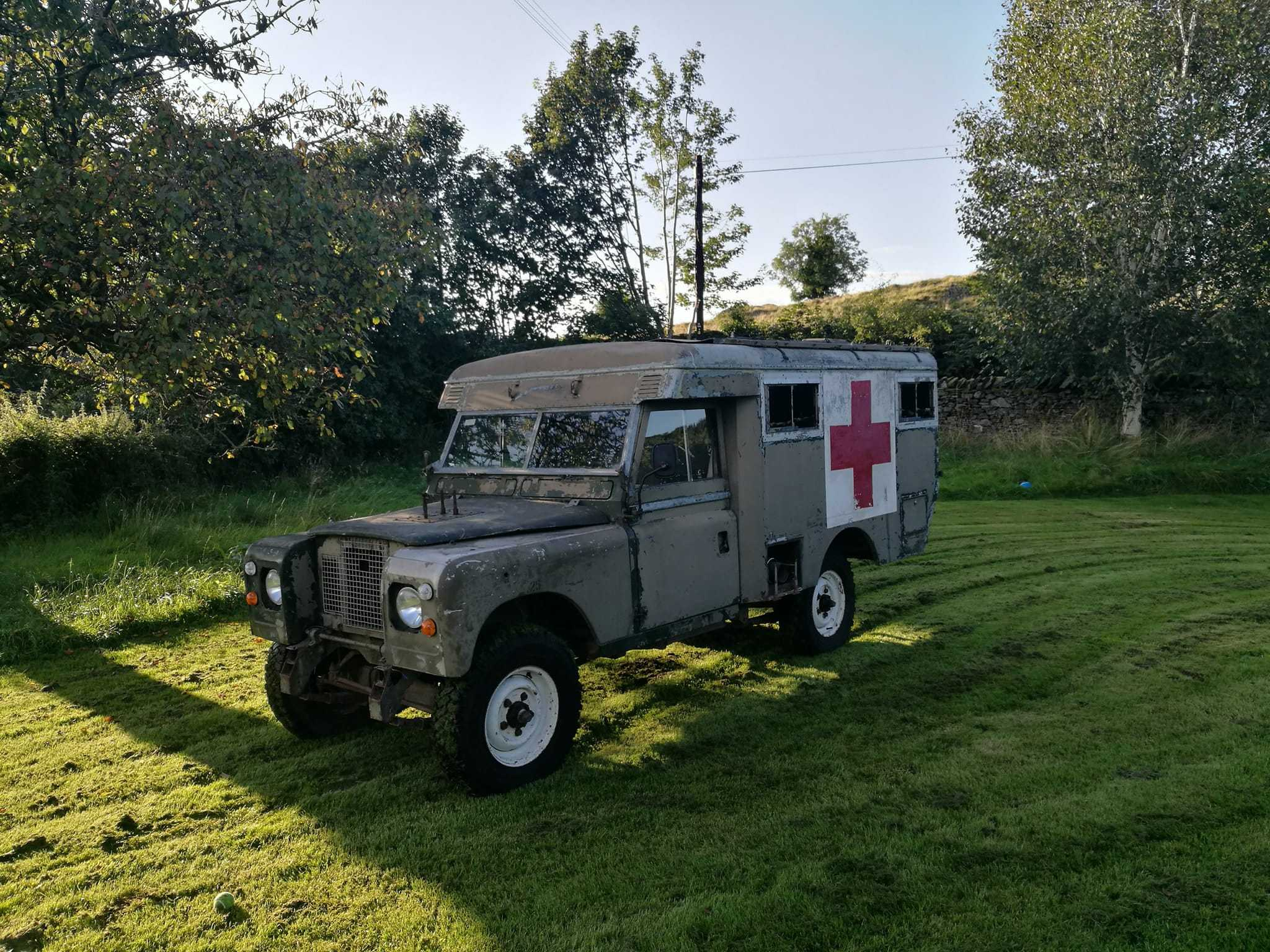 Yves Leather is hoping to restore this former military ambulance