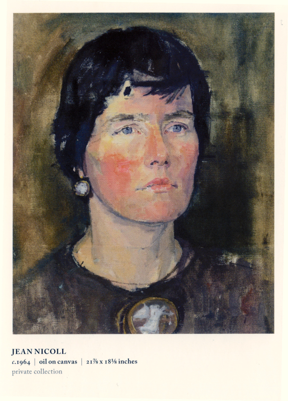 Self Portrait by Jean Nicoll (Sturgis), one of the paintings in the A Sense of Place: Paintings, Prints and Drawings exhibition at Grasmere's Heaton Cooper Studio, which brings together work that spans Jean's whole career