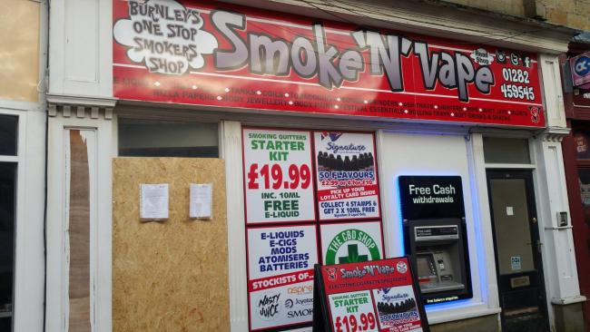 Burnley Smoke n Vape store closed 'for selling legal highs' | The