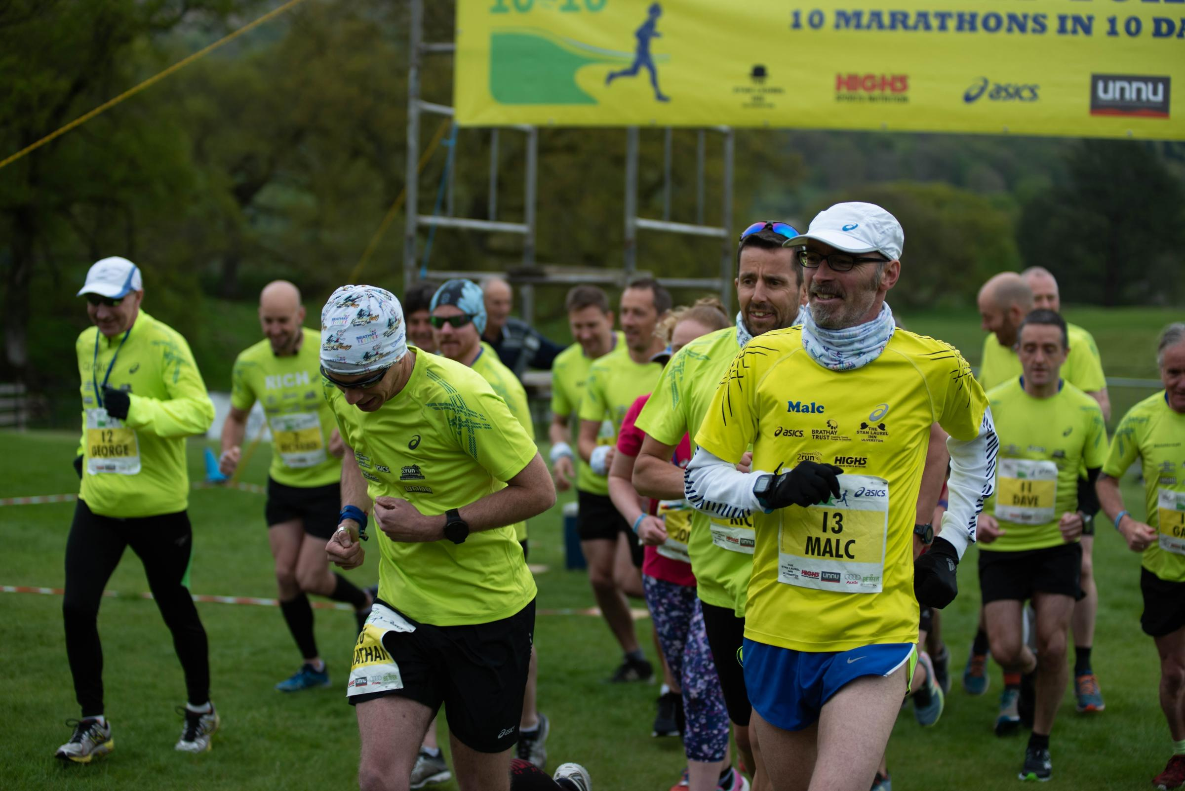Brathay 10in10 runners set off on their gruelling marathon challenge last Friday
