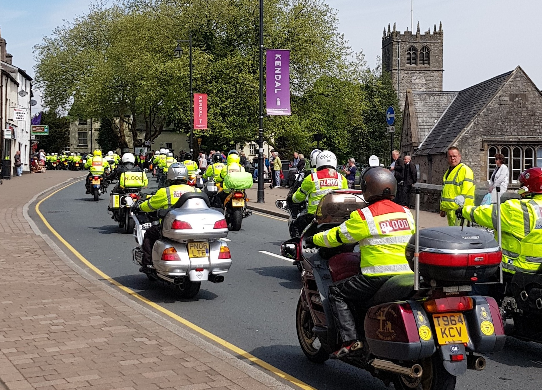 Hundreds of motorcyclists turn out to remember Kendal blood biker