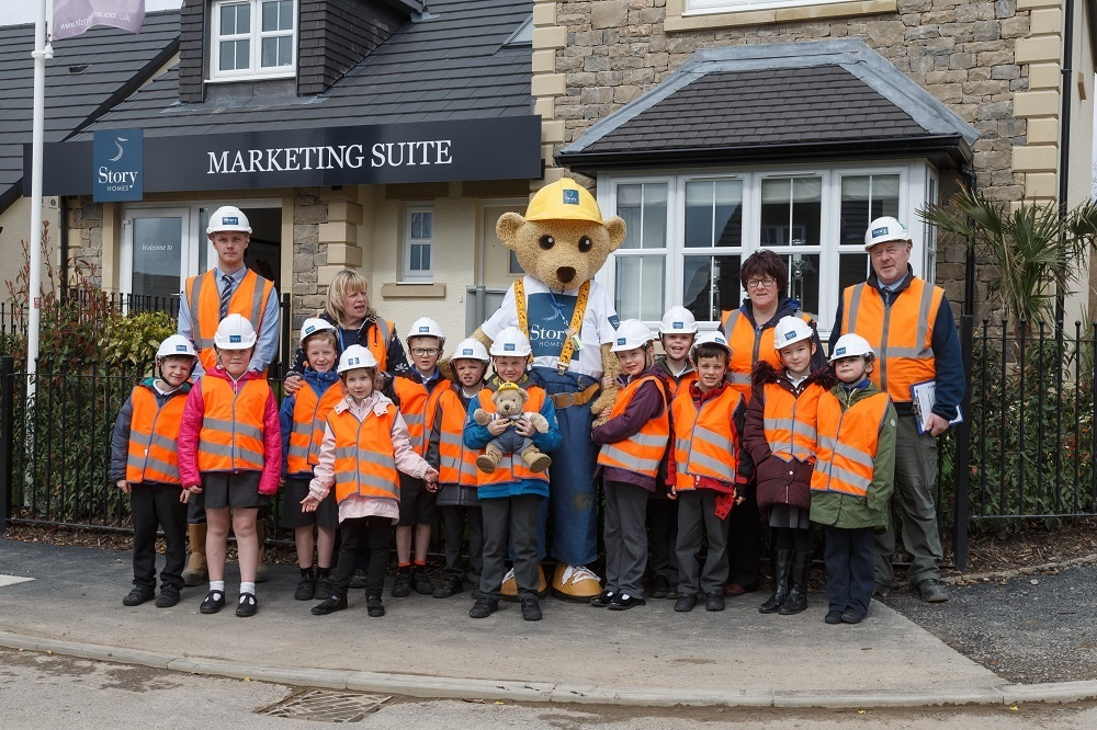 Children from Levens CE Primary School visit the nearby Greengate Meadow site