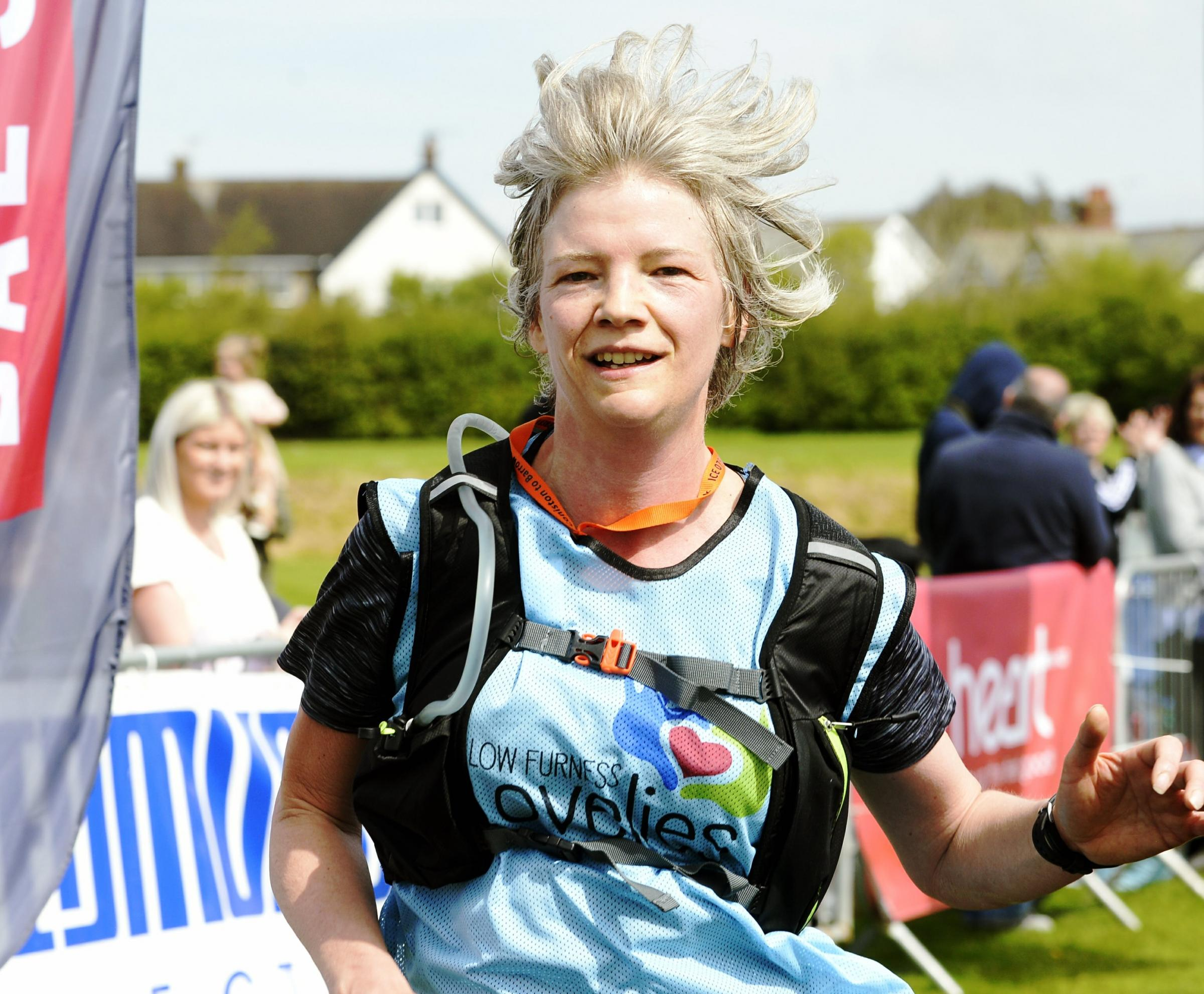 First woman home in the Coniston to Barrow event was Julie Hunter of Great Urswick in 3:08:19 (Picture: Jon Granger)