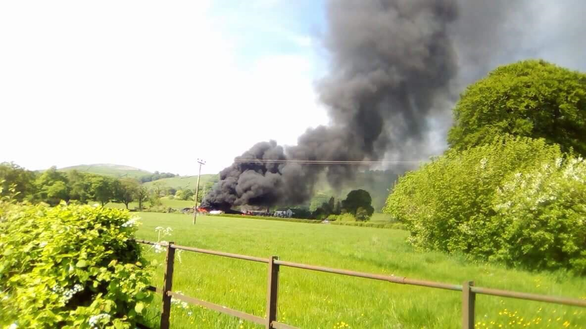 More than 20 firefighters tackle Burneside blaze