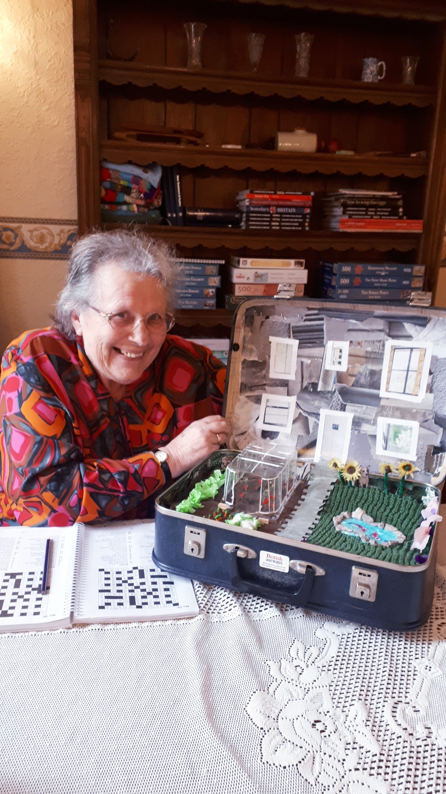 Margaret Trivias with the pop-up garden